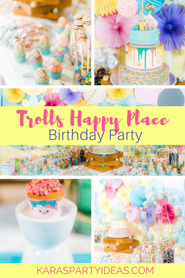 Trolls Happy Place Birthday Party via KarasPartyIdeas - KarasPartyIdeas.com (1)