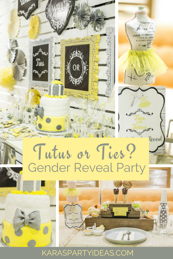 Tutus or Ties_ Gender Reveal Party via KarasPartyIdeas - KarasPartyIdeas.com