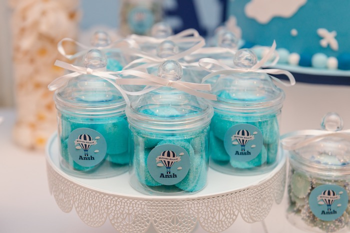 Mini Apothecary Favor Jars from an Up Up and Away Birthday Party on Kara's Party Ideas | KarasPartyIdeas.com (4)