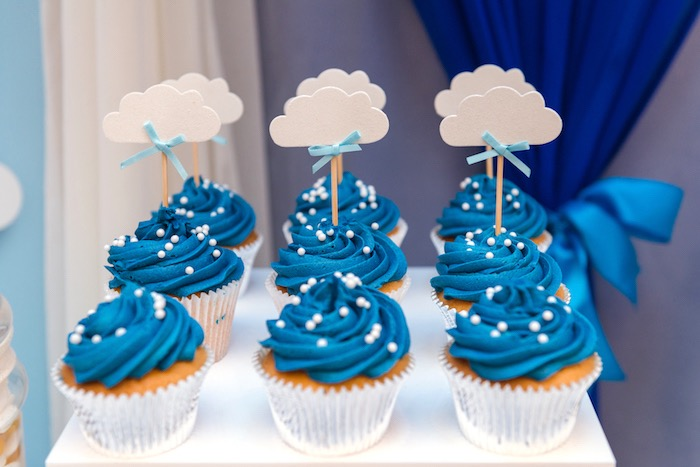 Cloud Cupcakes from an Up Up and Away Birthday Party on Kara's Party Ideas | KarasPartyIdeas.com (2)
