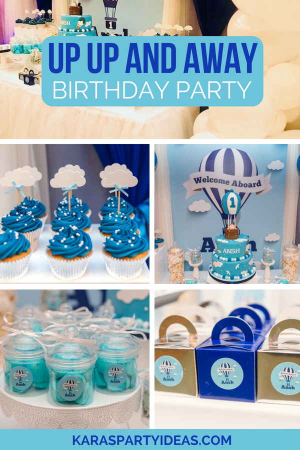 Up Up and Away Birthday Party via KarasPartyIdeas - KarasPartyIdeas.com