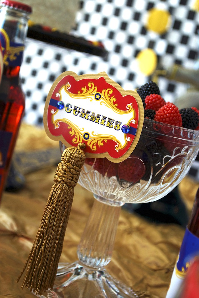 Circus Party Sweet Label from a Vintage Luxe Circus Birthday Party on Kara's Party Ideas | KarasPartyIdeas.com (17)