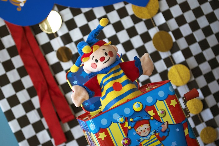 Jack in the Box from a Vintage Luxe Circus Birthday Party on Kara's Party Ideas | KarasPartyIdeas.com (13)