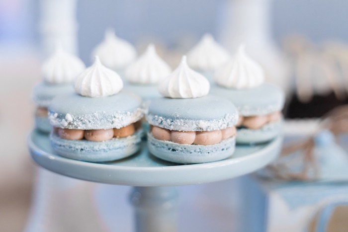Meringue-topped Macarons from a Woodland Animal Hot Air Balloon Birthday Party on Kara's Party Ideas | KarasPartyIdeas.com (18)