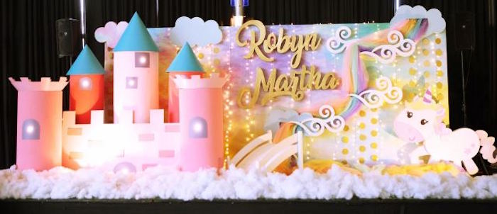 Stage from a Dreamy Princess Birthday Party on Kara's Party Ideas | KarasPartyIdeas.com