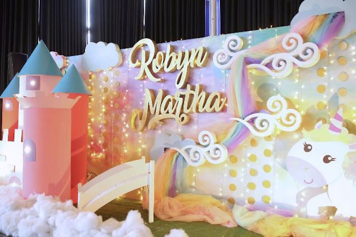 Stage from a Dreamy Princess Birthday Party on Kara's Party Ideas | KarasPartyIdeas.com