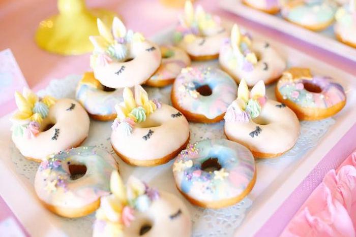 Doughnuts from a Dreamy Princess Birthday Party on Kara's Party Ideas | KarasPartyIdeas.com