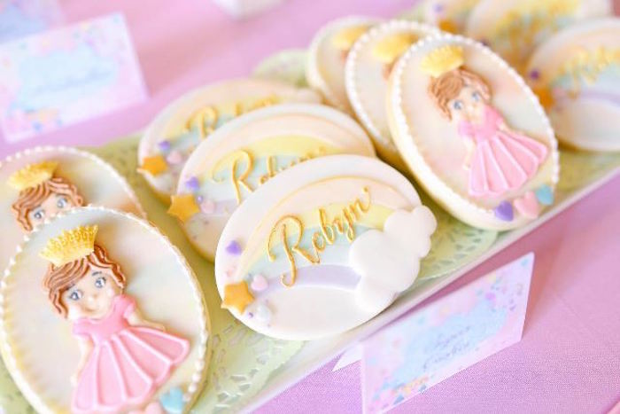 Cookies from a Dreamy Princess Birthday Party via Kara's Party Ideas | KarasPartyIdeas.com