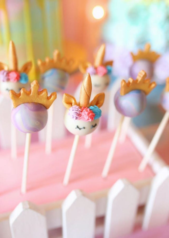 Cake Pops from a Dreamy Princess Birthday Party via Kara's Party Ideas | KarasPartyIdeas.com