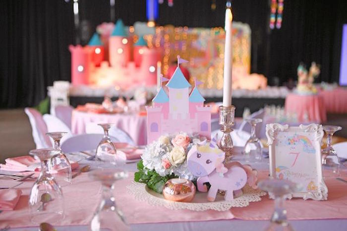 Guest table from a Dreamy Princess Birthday Party on Kara's Party Ideas | KarasPartyIdeas.com