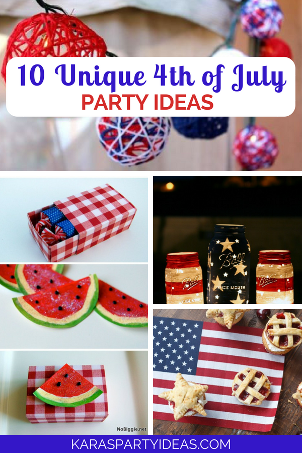 10 Unique 4th of July Party Ideas via Kara_s Party Ideas - KarasPartyIdeas.com
