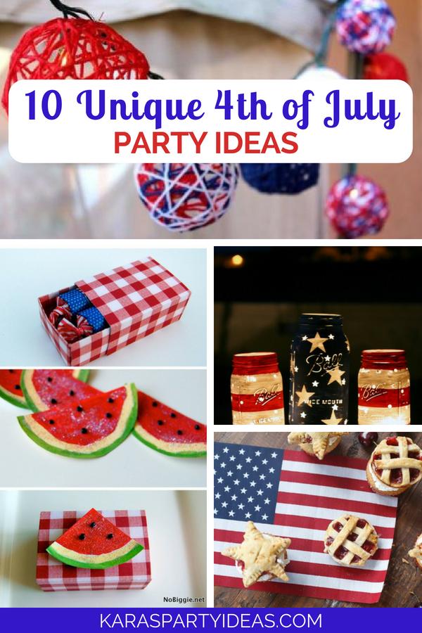 10 Unique 4th of July Party Ideas via Kara_s Party Ideas - KarasPartyIdeas.com