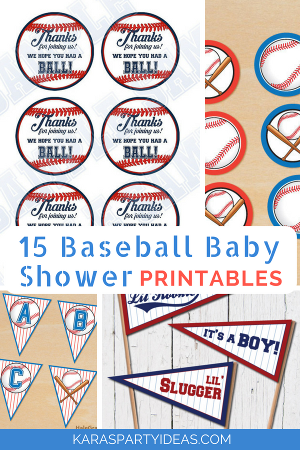 15 Baseball Baby Shower Printables via Kara_s Party Ideas - KarasPartyIdeas.com