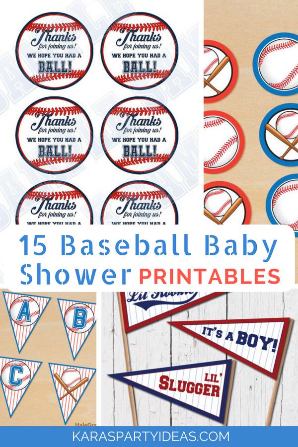 Karas Party Ideas 15 Baseball Baby Shower Printables Karas Party