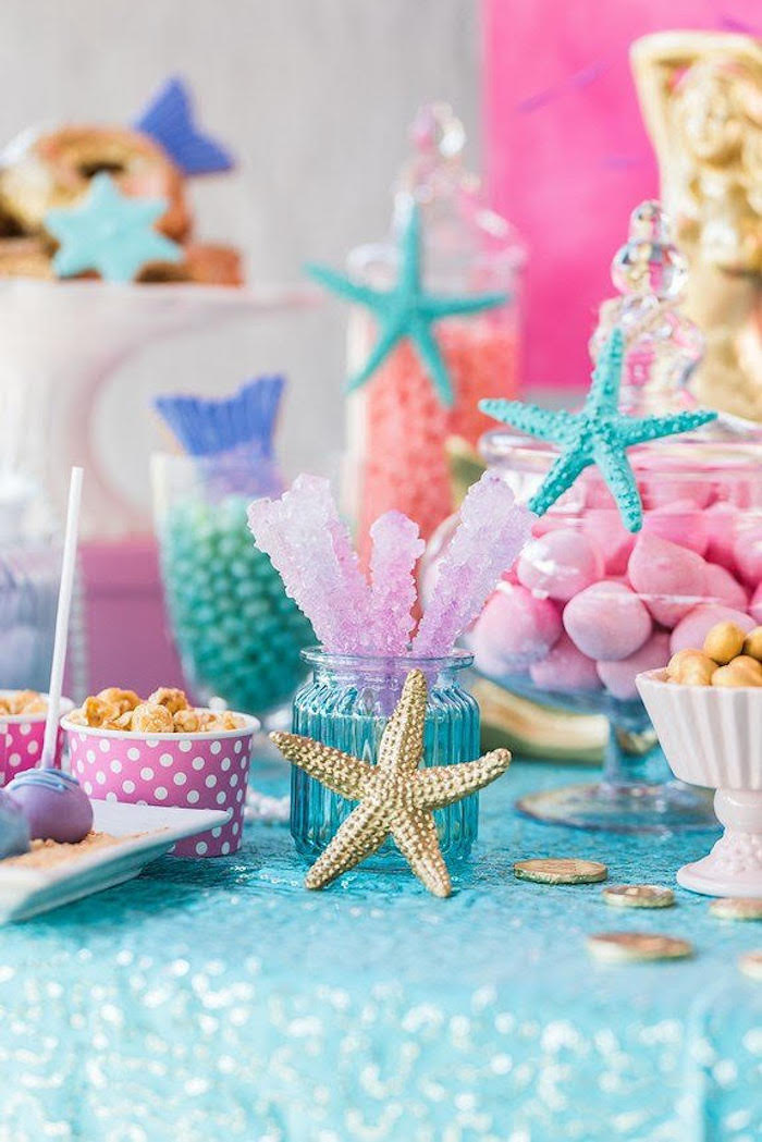 Kara S Party Ideas Quot Let S Be Mermaids Quot Birthday Party