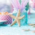 """Let's be Mermaids"" Birthday Party on Kara's Party Ideas   KarasPartyIdeas.com (1)"