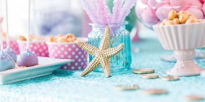 """Let's be Mermaids"" Birthday Party on Kara's Party Ideas | KarasPartyIdeas.com (1)"