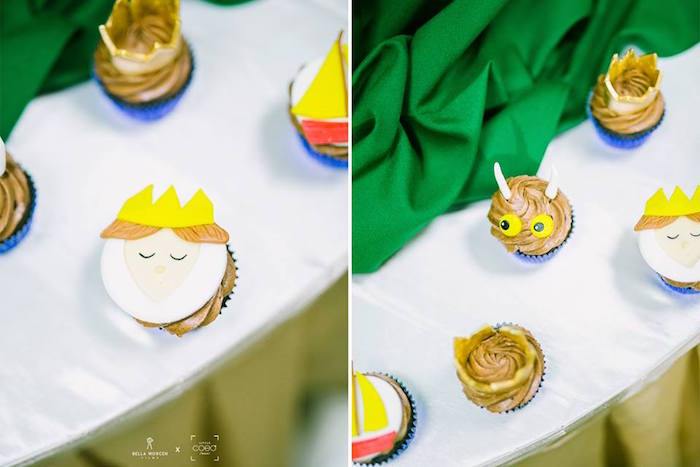 "Where the Wild Things Are Cupcakes from a ""Where the Wild Things Are"" Birthday Party on Kara's Party Ideas 