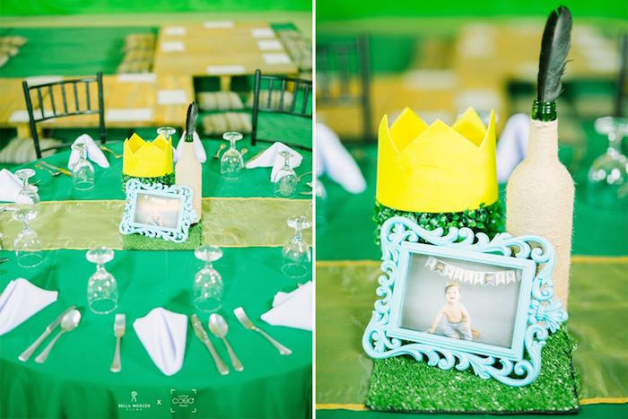 "Guest Table + Centerpiece from a ""Where the Wild Things Are"" Birthday Party on Kara's Party Ideas 