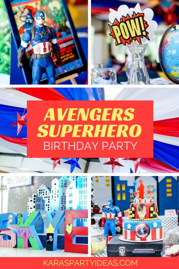 Avengers Superhero Birthday Party via Kara_s Party Ideas - KarasPartyIdeas.com