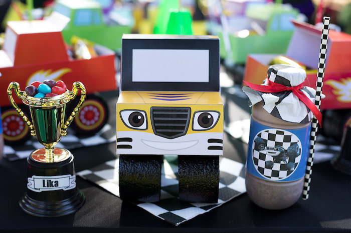 Character Truck Lunchbox + Table Setting from a Blaze and the Monster Machines Birthday Party on Kara's Party Ideas | KarasPartyIdeas.com (22)