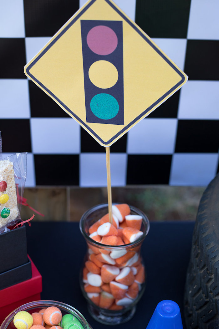 Construction Cone Candy from a Blaze and the Monster Machines Birthday Party on Kara's Party Ideas | KarasPartyIdeas.com (18)