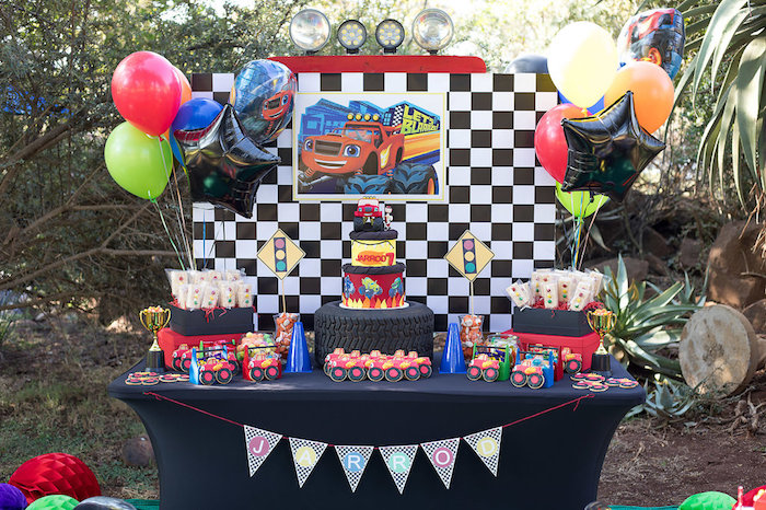 Blaze and the Monster Machines Birthday Party on Kara's Party Ideas | KarasPartyIdeas.com (17)
