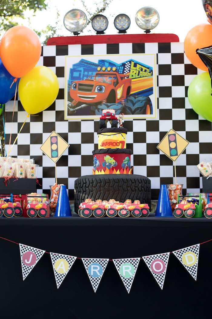 Blaze and the Monster Machines Birthday Party on Kara's Party Ideas | KarasPartyIdeas.com (4)