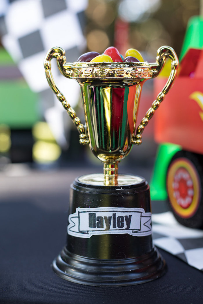 Trophy Place Card from a Blaze and the Monster Machines Birthday Party on Kara's Party Ideas | KarasPartyIdeas.com (28)