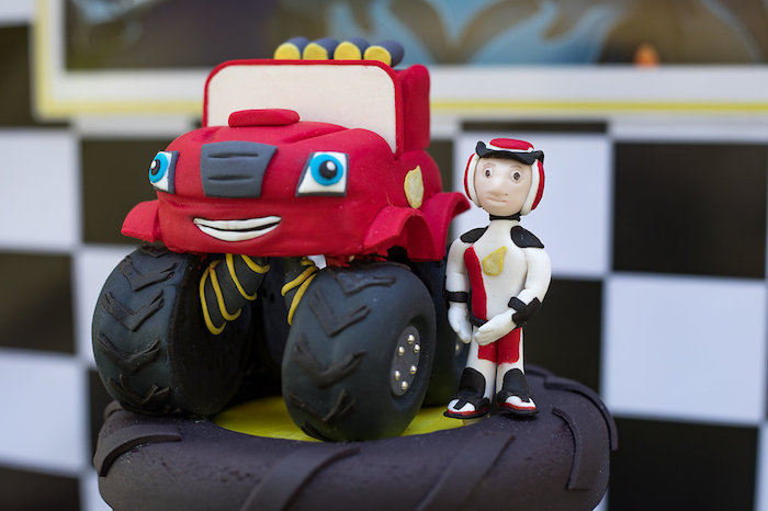 Blaze Monster Truck Cake Topper from a Blaze and the Monster Machines Birthday Party on Kara's Party Ideas | KarasPartyIdeas.com (26)