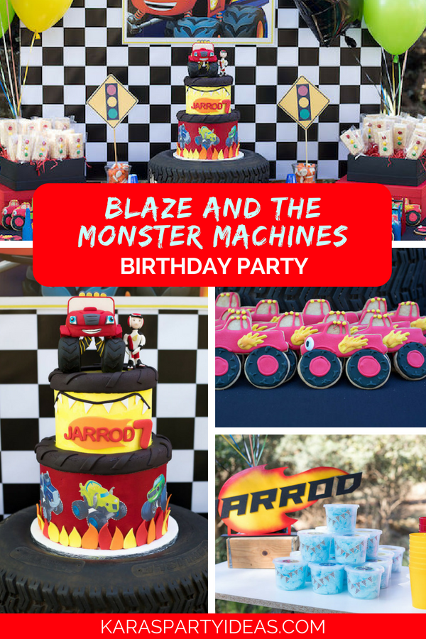 Blaze and the Monster Machines Birthday Party via Kara's Party Ideas - KarasPartyIdeas.com