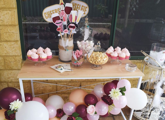Sweet Table from a Boho Picnic Birthday Party on Kara's Party Ideas | KarasPartyIdeas.com (7)
