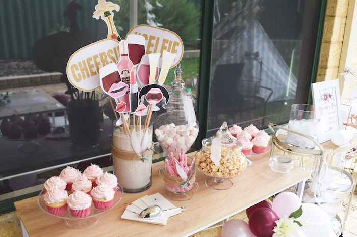 Sweet Table from a Boho Picnic Birthday Party on Kara's Party Ideas | KarasPartyIdeas.com (6)