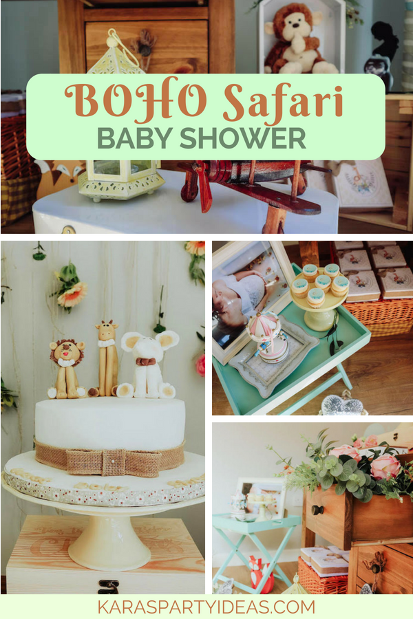 Boho Safari Baby Shower via Kara_s Party Ideas - KarasPartyIdeas.com