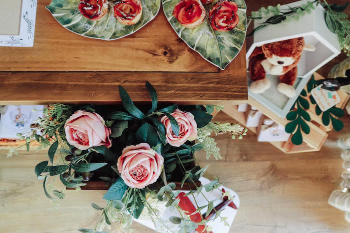 Roses from a Boho Safari Baby Shower on Kara's Party Ideas | KarasPartyIdeas.com (10)