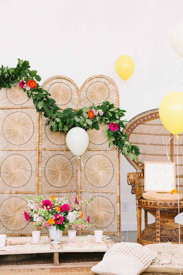 Boho Summer Daisy Party on Kara's Party Ideas | KarasPartyIdeas.com (10)