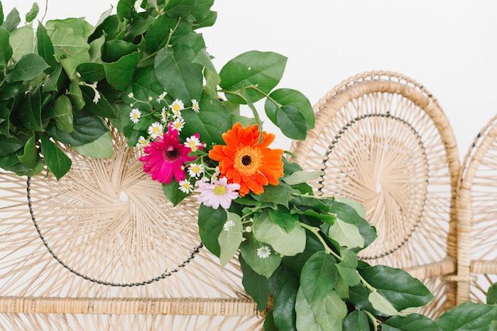 Green Flower Garland from a Boho Summer Daisy Party on Kara's Party Ideas | KarasPartyIdeas.com (5)