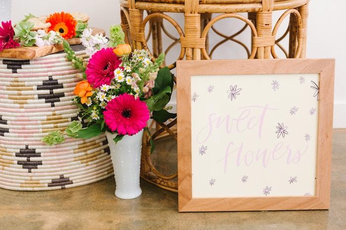 Sweet Flower Print from a Boho Summer Daisy Party on Kara's Party Ideas | KarasPartyIdeas.com (18)