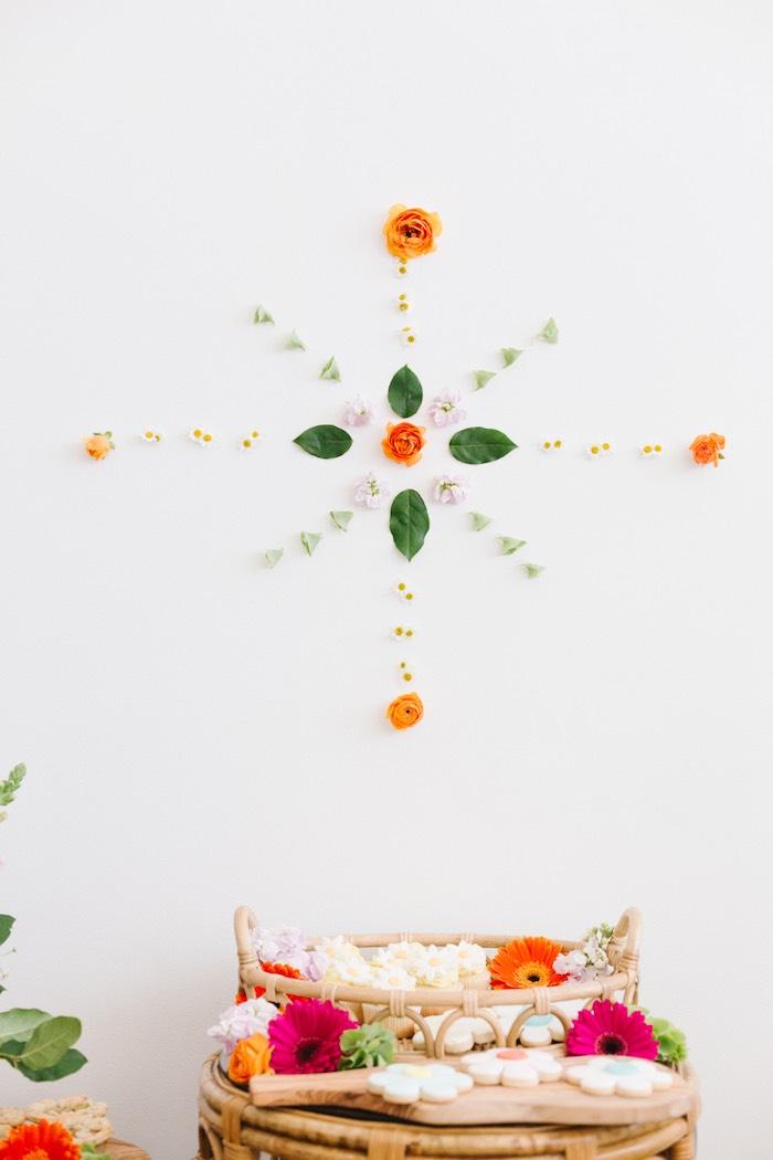 Boho Flower Sign from a Boho Summer Daisy Party on Kara's Party Ideas | KarasPartyIdeas.com (17)