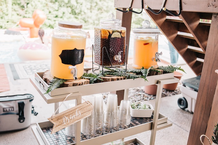 Boho Beverage Station From A Sweet Sixteen Birthday Party On Karas Ideas