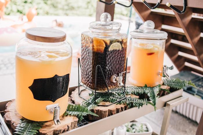 Boho Beverage Station from a Boho Sweet Sixteen Birthday Party on Kara's Party Ideas | KarasPartyIdeas.com (14)