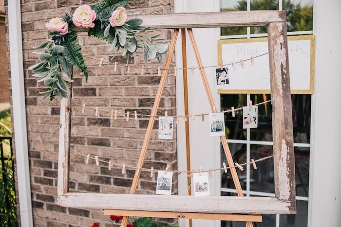 Boho Photo Board + Frame from a Boho Sweet Sixteen Birthday Party on Kara's Party Ideas | KarasPartyIdeas.com (8)
