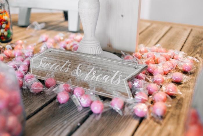 Wooden Sweets & Treats Sign from a Boho Sweet Sixteen Birthday Party on Kara's Party Ideas | KarasPartyIdeas.com (5)