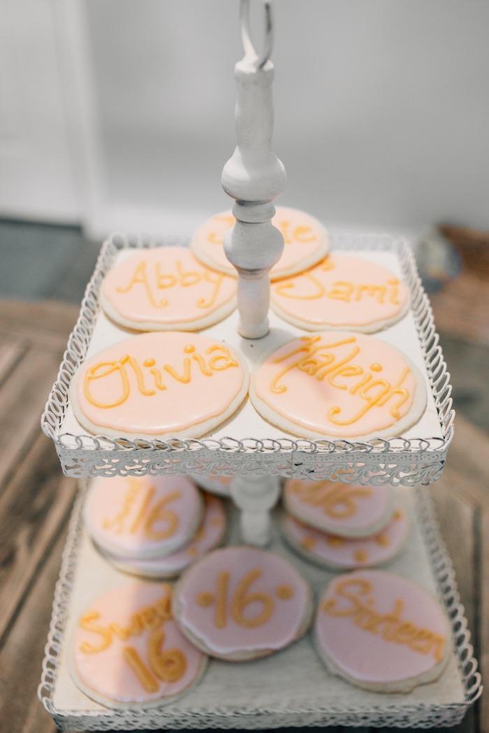 Cookies from a Boho Sweet Sixteen Birthday Party on Kara's Party Ideas | KarasPartyIdeas.com (4)