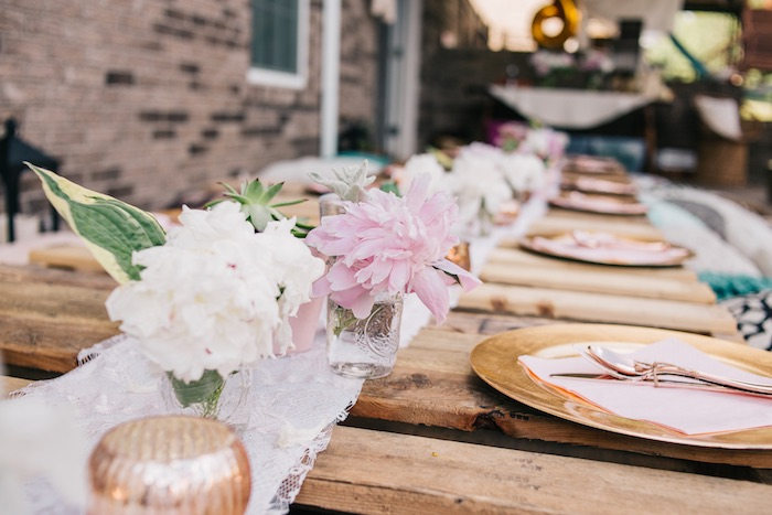 Boho Blooms + Table Centerpieces from a Boho Sweet Sixteen Birthday Party on Kara's Party Ideas | KarasPartyIdeas.com (22)