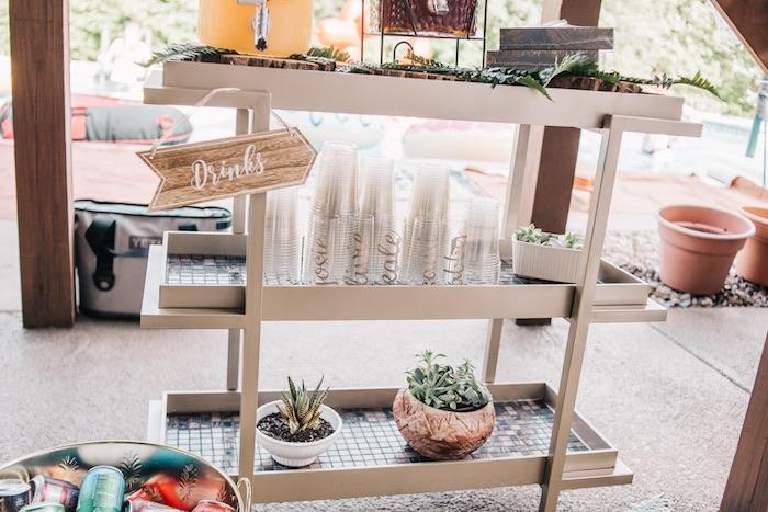 Boho Beverage Station from a Boho Sweet Sixteen Birthday Party on Kara's Party Ideas | KarasPartyIdeas.com (18)
