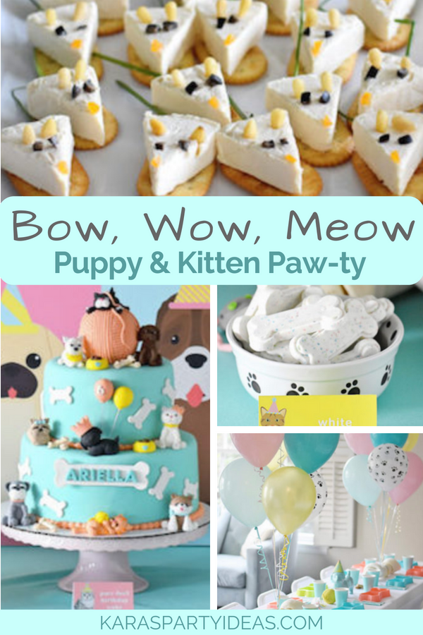 Bow, Wow, Meow Puppy and Kitten Paw-ty via Kara_s Party Ideas - KarasPartyIdeas.com
