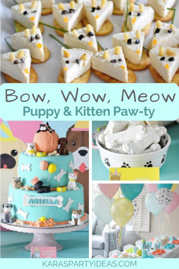 Bow, Wow, Meow Puppy and Kitten Paw-ty via Kara_s Party Ideas - KarasPartyIdeas.com