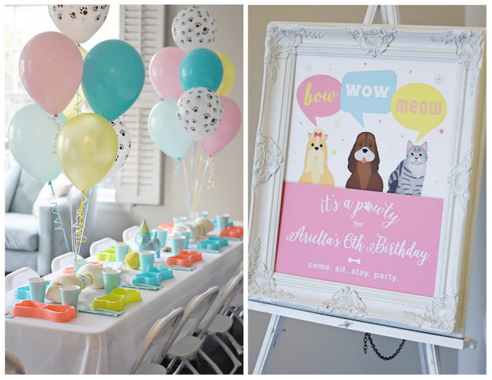 Bow, Wow, Meow Puppy and Kitten Paw-ty on Kara's Party Ideas | KarasPartyIdeas.com (18)