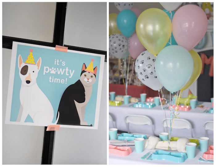 Bow, Wow, Meow Puppy and Kitten Paw-ty on Kara's Party Ideas | KarasPartyIdeas.com (13)